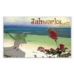 Beach Scene Sticker (rectangle 10 Pk)