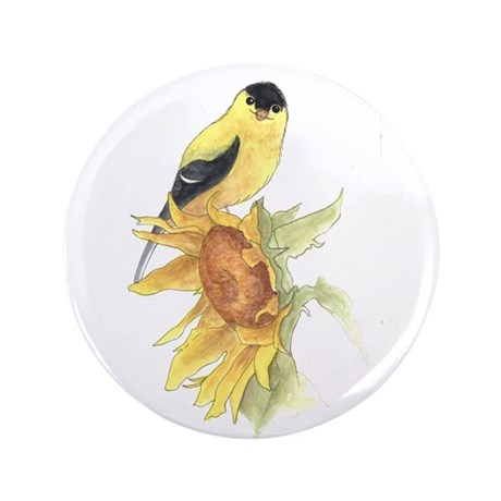 """Goldfinch 3.5"""" Button (100 pack)"""