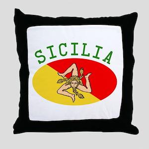 Sicilian Flag Throw Pillow