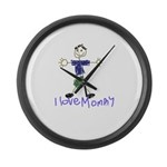 I Love Mommy- Son Large Wall Clock