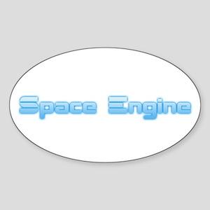 SpaceEngine Logo One-Line Transparent Sticker