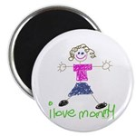 I Love Mommy- Daughter Magnet