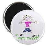 "I Love Mommy- Daughter 2.25"" Magnet (100 pack"
