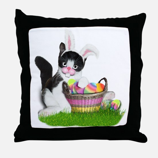 Cute Colored eggs Throw Pillow