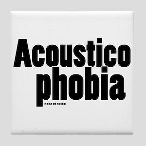 Acousticophobia Tile Coaster