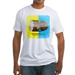 Dhol Player. Fitted T-Shirt