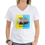Dhol Player. Women's V-Neck T-Shirt