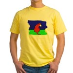 ARTISTIC CARTOON DOG  Yellow T-Shirt