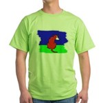 ARTISTIC CARTOON DOG  Green T-Shirt