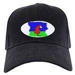 ARTISTIC CARTOON DOG Black Cap