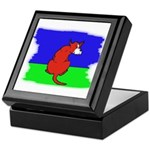 ARTISTIC CARTOON DOG Keepsake Box