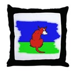 ARTISTIC CARTOON DOG  Throw Pillow