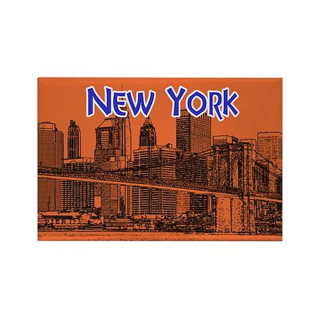 New York Rectangle Magnet Magnets