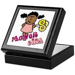 Ethnic Flowergirl Keepsake Box