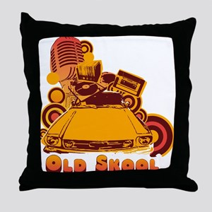 Old Skool Collage Throw Pillow