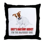Grey's Anatomy Addict Throw Pillow