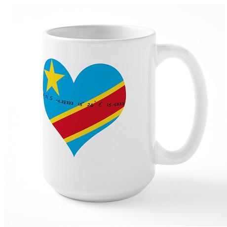 Large Mug with Kinshasa Coordinates