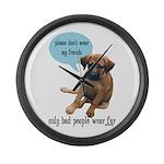 Please Don't Wear My Friends Large Wall Clock