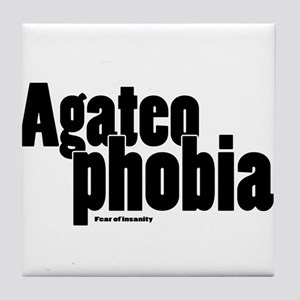 Agateophobia Tile Coaster