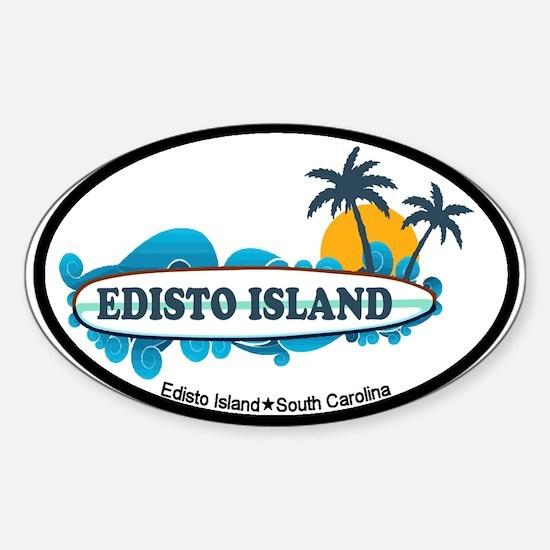 Edisto Island SC - Surf Design Sticker (Oval)