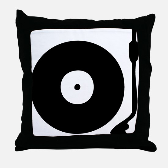 Vinyl Turntable 1 Throw Pillow