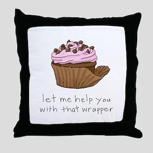 Let Me Help You Cupcake Throw Pillow