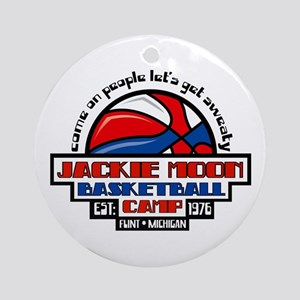 Jackie Moon Basketball Camp Ornament (Round)