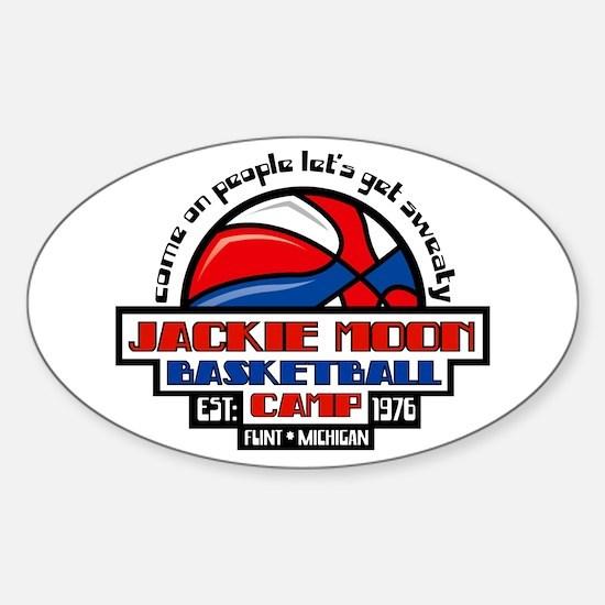 Jackie Moon Basketball Camp Sticker (Oval)