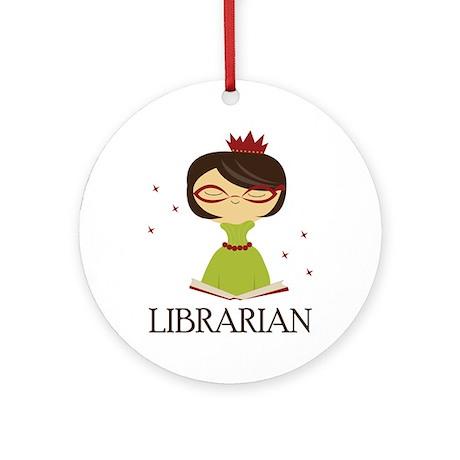 So Cute Librarian Ornament (Round)