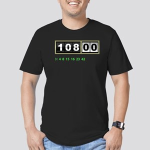Lost Numbers 108 Minutes Men's Fitted T-Shirt (dar