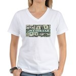 Women's V-Neck T-Shirt (white) 1