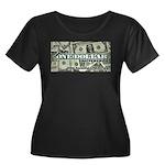 Women's Plus Size Scoop Neck T-Shirt (black) 1