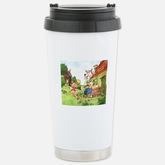 The Pigs and the Wolf Stainless Steel Travel Mug
