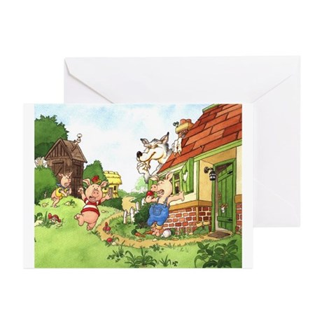 The Pigs and the Wolf Greeting Cards (Pk of 20)