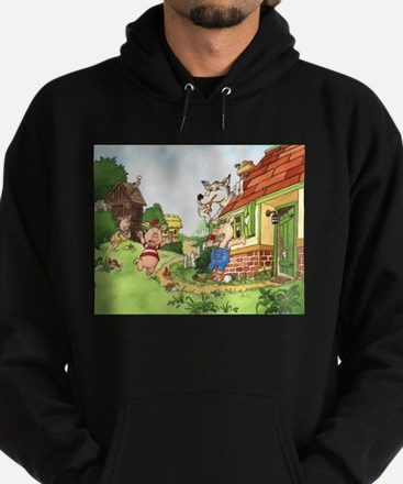 The Pigs and the Wolf Hoodie (dark)