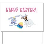JRT Happy Easter Yard Sign