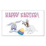 JRT Happy Easter Sticker (Rectangle)