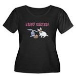 Jack Russell and Easter Bunny Women's Plus Size Sc
