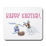 Jack Russell and Easter Bunny Mousepad