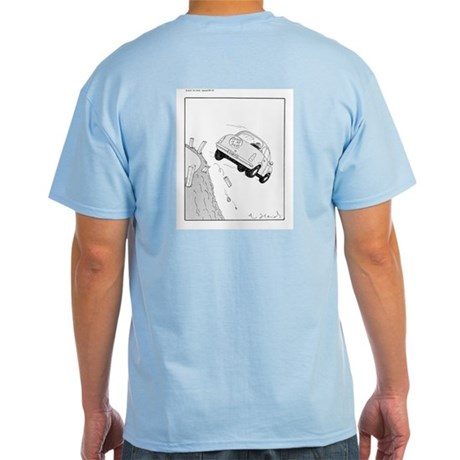 Ljos t-shirt til menn vid tekning