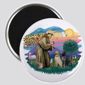 St. Francis #2 / Two Labradors Magnet