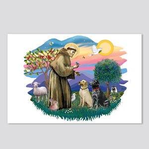 St. Francis #2 / Two Labradors Postcards (Package