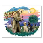 St. Francis #2 / Two Labradors Small Poster