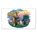 St. Francis #2 / Two Labradors Sticker (Rectangle