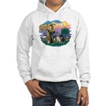 St. Francis #2 / Two Labradors Hooded Sweatshirt