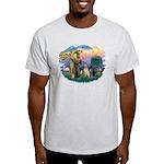 St. Francis #2 / Two Labradors Light T-Shirt