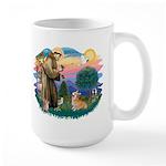 St Francis #2 / Welsh Corgi (P-7b) Large Mug