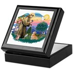 St Francis #2 / Welsh Corgi (P-7b) Keepsake Box