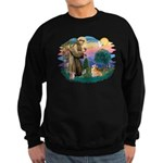 St Francis #2 / Welsh Corgi (P-7b) Sweatshirt (dar