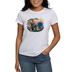 St Francis #2 / Welsh Corgi (P-7b) Women's T-Shirt
